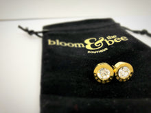 Load image into Gallery viewer, bloomandthebee,The Time Is NOW! Crystal Roman Numeral Studs,Bloom and The Bee ,earrings