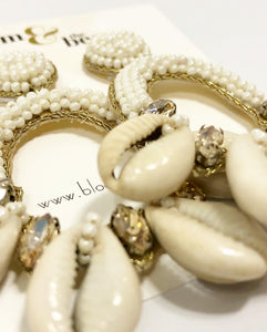 bloomandthebee,Queen Sheba Cowrie Shell Earring,Bloom and The Bee ,