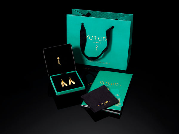 Catherine Zoraida Packaging. Jewellery box and travel pouch.