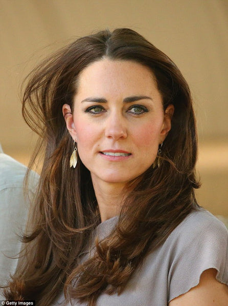 Kate Middleton, the Duchess of Cambridge wears Catherine Zoraida Double Leaf Earrings at Uluru