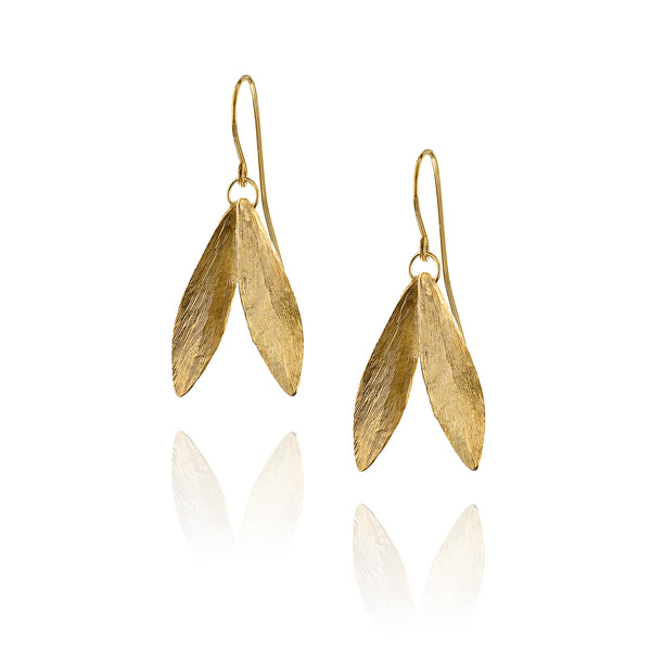 Double Leaf Earring by British jeweller Catherine Zoraida, one of HRH The Duchess of Cambridge's (aka Kate Middleton) favourite pair of earrings.