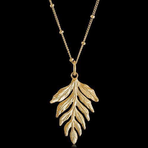 Gold Fern Drop Pendant