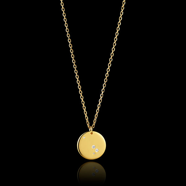 9ct gold aries zodiac pendant catherine zoraida