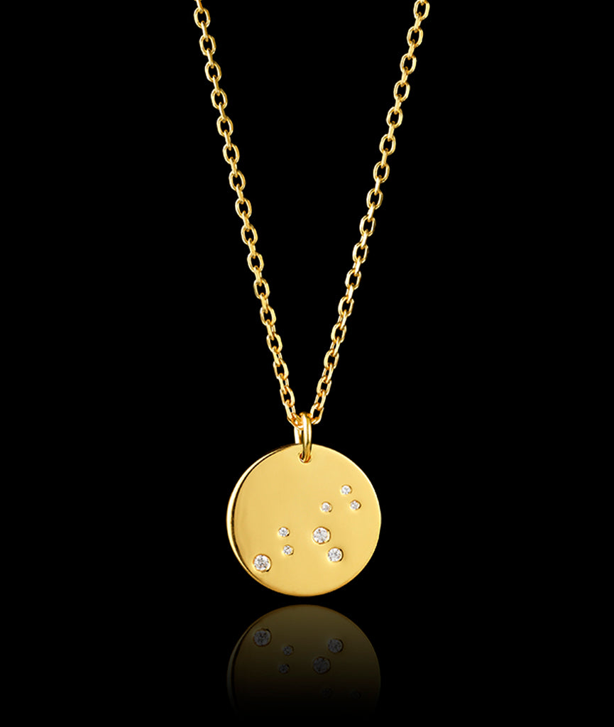 9ct gold Leo zodiac pendant by Catherine zoraida