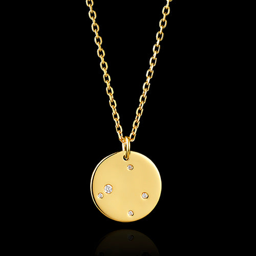 9ct Gold Virgo Zodiac Pendant