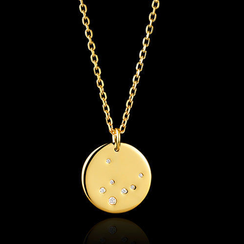 9ct Gold Virgo Zodiac Pendant by catherine zoraida