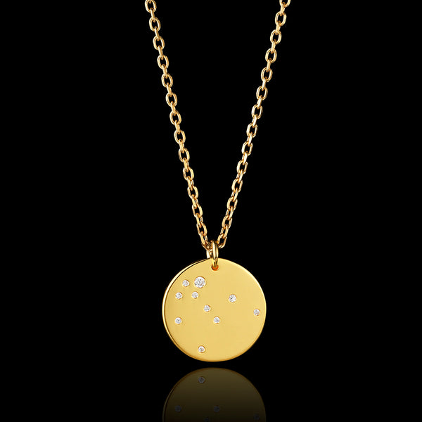 9ct gold aquarius zodiac pendant catherine zoraida