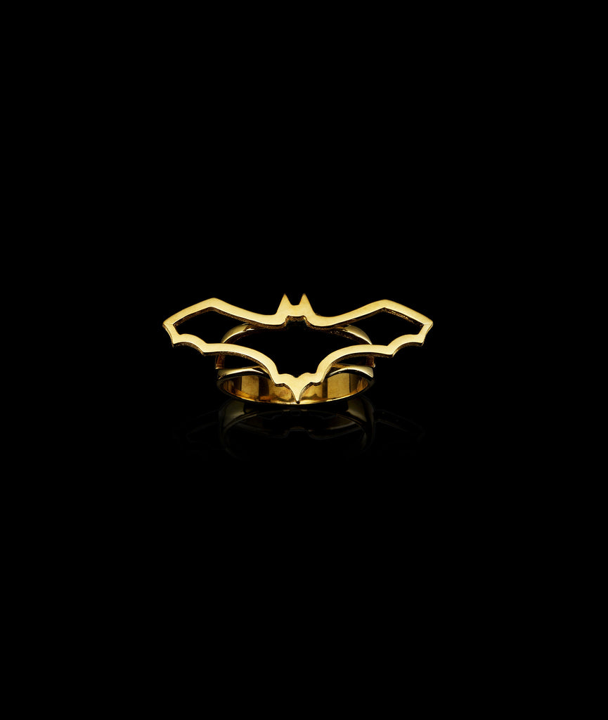 Gold Fruit Bat Ring by jewellery designer Catherine Zoraida