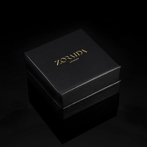 Catherine Zoraida London  black leather jewellery gift box