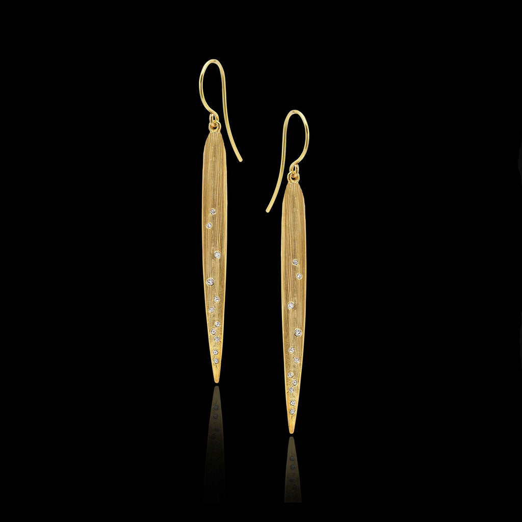 The Gold Good Morning Earrings by Jewellery designer Catherine Zoraida