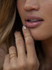 Rocky Barnes wears Catherine Zoraida Gold Bubble design ring
