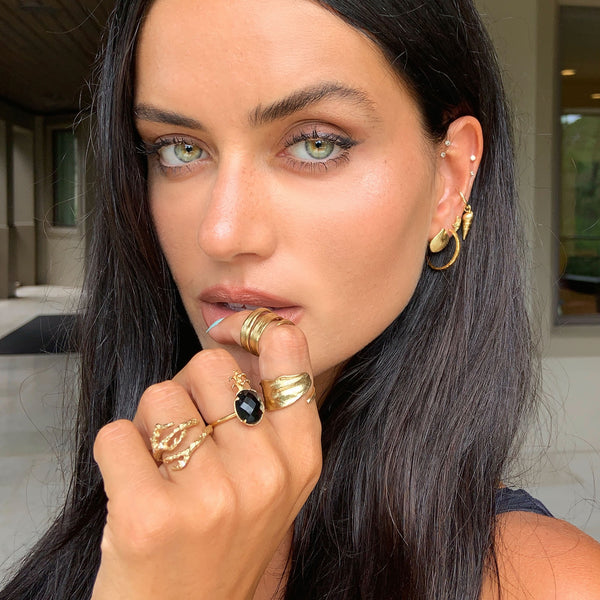 Talia Richman wears Catherine Zoraida Gold Apple Twig Ring
