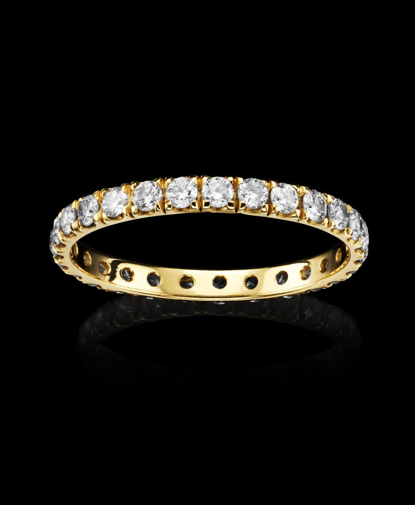 Catherine Zoraida Gold and Diamond Undercut Eternity Ring Jewellery Present