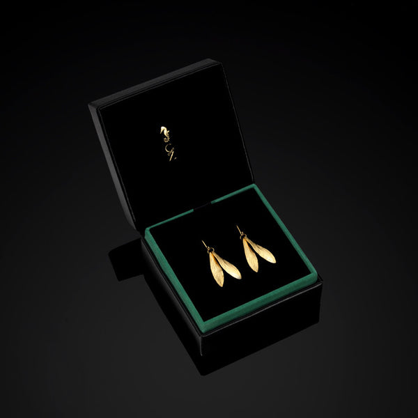 Catherine Zoraida double leaf earrings in gift box