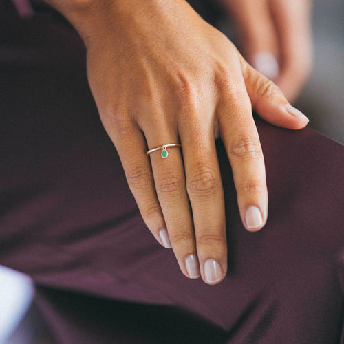 Moonstone Raindrop Stacking Ring Leila Thomas