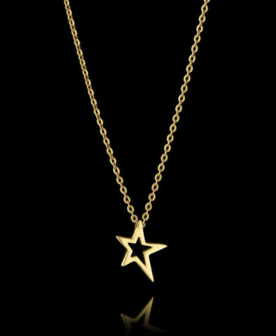 Close up Fairtrade Gold Shooting Star Pendant Necklace by Catherine Zoraida