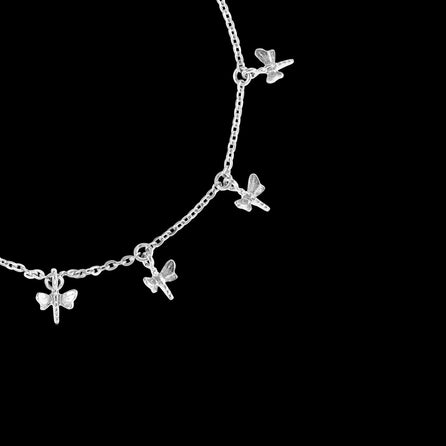 Silver Dancing Dragonflies Bracelet | Zoraida London Jewellery