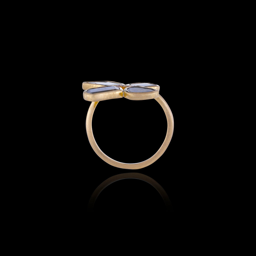 Diamond Polki Butterfly Ring