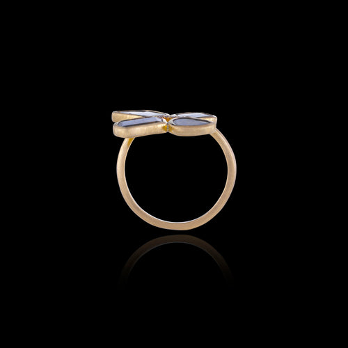 Gold Polki Diamond slice butterfly ring by Catherine Zoraida