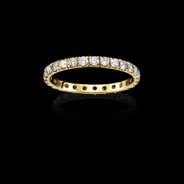 Catherine Zoraida Gold and Diamond Undercut Eternity Ring