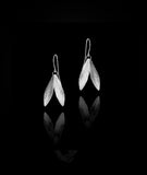 Silver Double Leaf Earrings by Catherine Zoraida