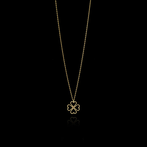 Fairtrade Gold Lucky Love Clover Pendant By Catherine Zoraida