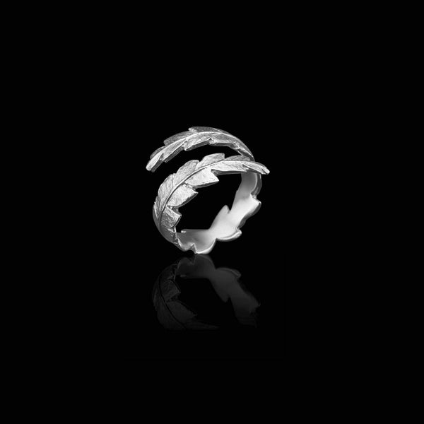 Silver Fern Wrap Ring by British Jeweller Catherine Zoraida