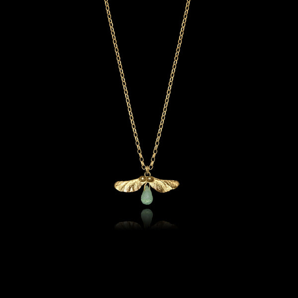 Gold and Aventurine Pendant Necklace by jewellery designer Catherine Zoraida