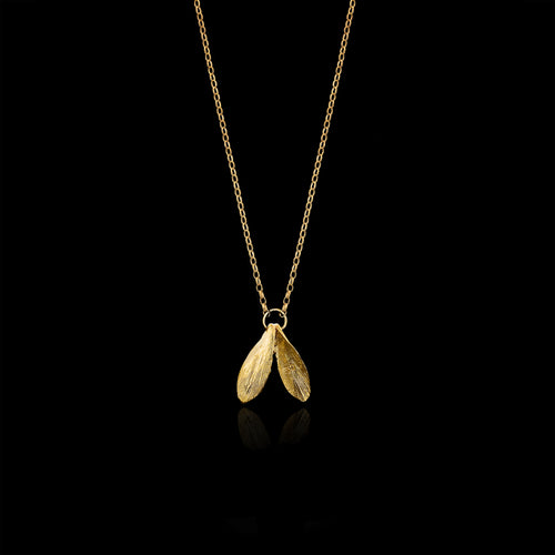 Gold Leafy Jingle Necklace