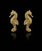 Catherine Zoraida Jewellery Gold Searhorse Stud Earrings