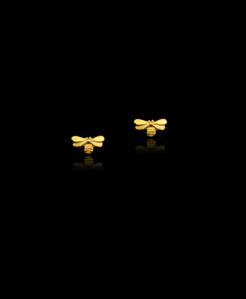 Honeybee Stud Earrings by Catherine Zoraida