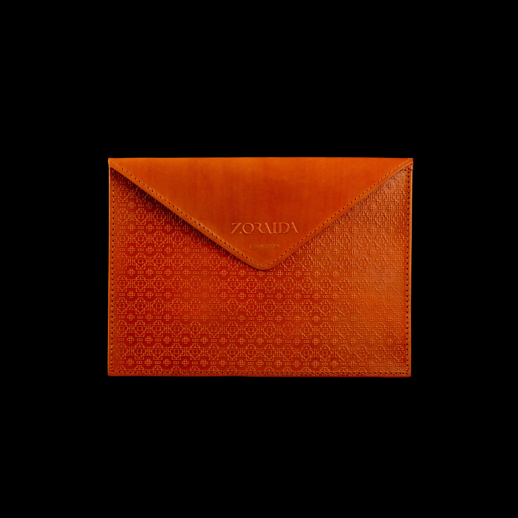 Maui Envelope Purse in Orange by Catherine Zoraida
