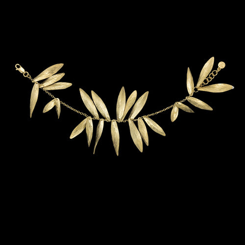 Gold Lucky Leaf Drop Earrings
