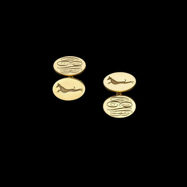 Gold or Silver customised cufflinks by Catherine Zoraida. The perfect Christmas or birthday gift for any man.
