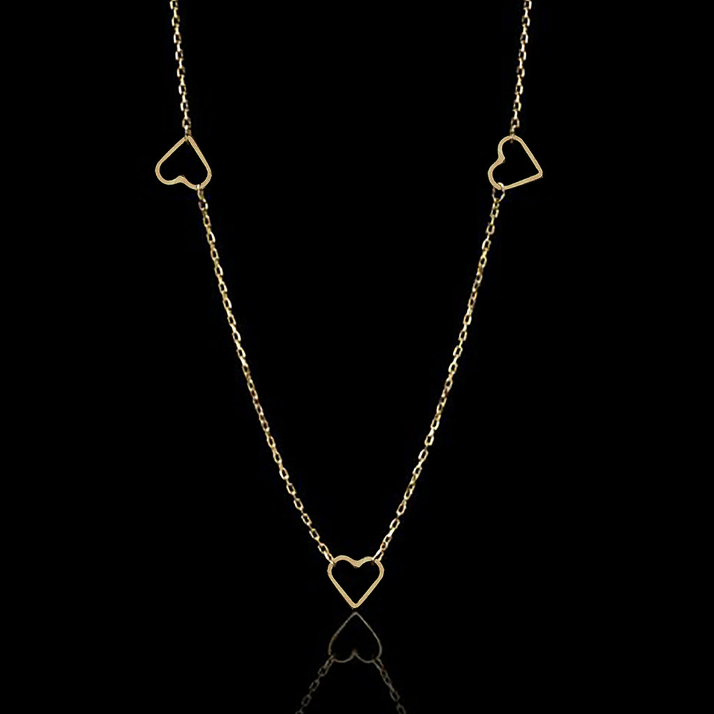 Gold Fairtrade Love Heart Necklace by catherine zoraida