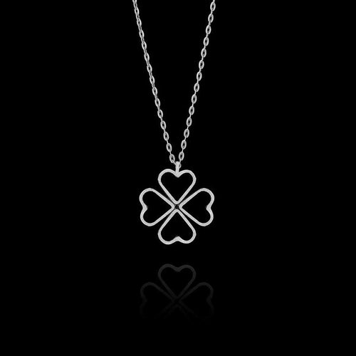 Silver Fairtrade Love Clover Pendant