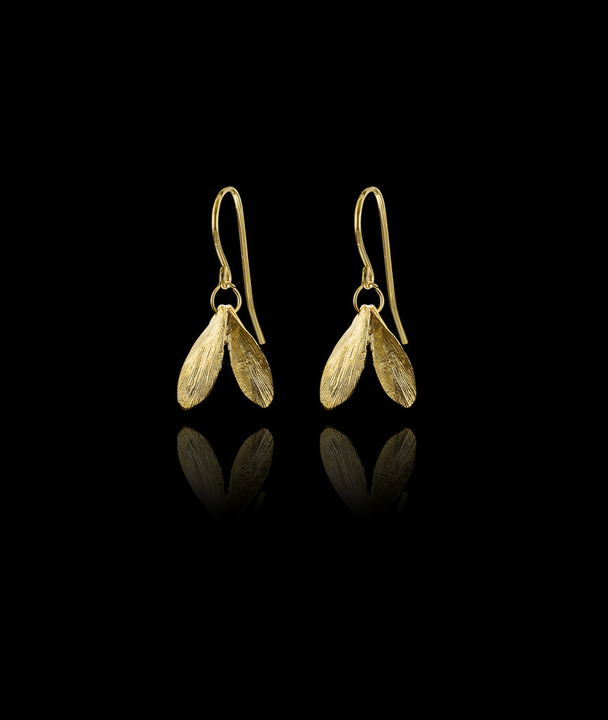 Mini Double Leaf Earrings by Catherine Zoraida