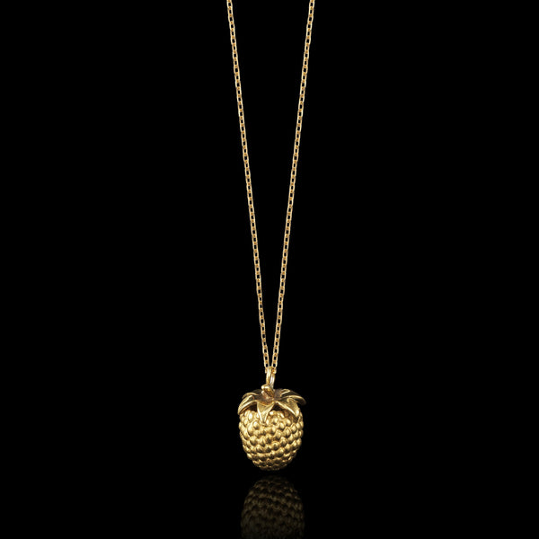 Gold Mini Raspberry Pendant by Catherine Zoraida