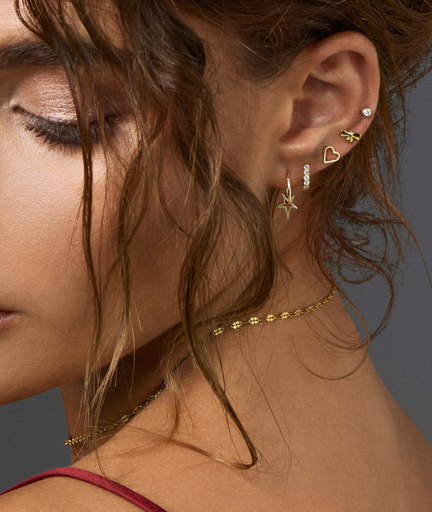 Mini Hoop Earrings. How to stack your earrings with Catherine Zoraida.
