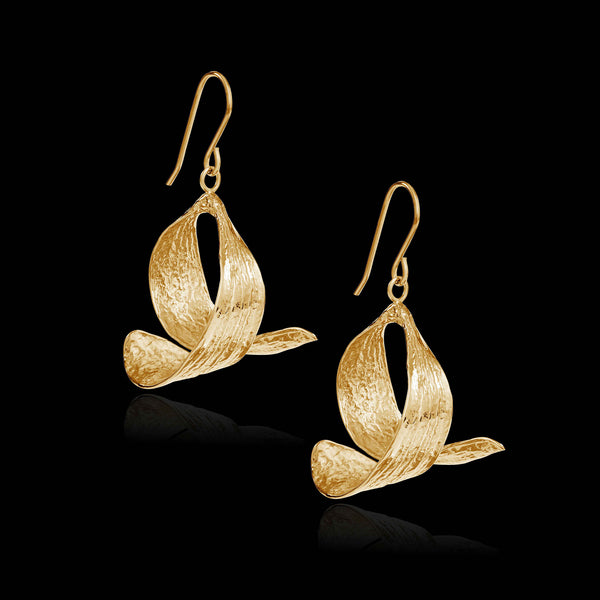 Gold Mistle Kiss Earrings by Zoraida London Jewellery