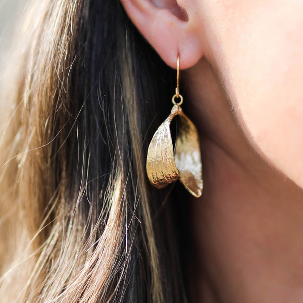 Gold Mistle Kiss Earrings by Zoraida London Ltd Jewellery