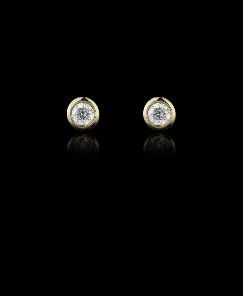 Catherine Zoraida Monroe Diamond 9 carat gold stud earrings