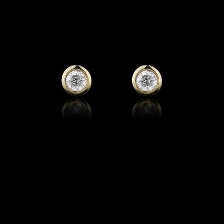 gold monroe diamond studs by jewellery design catherine zoraida