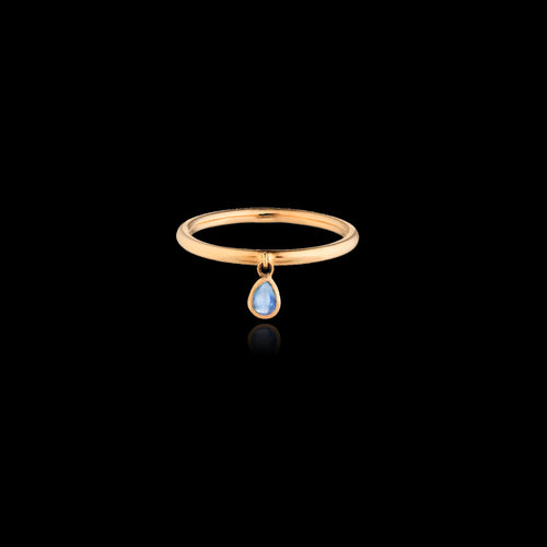 Moonstone Raindrop Stacking Ring by Zoraida London Jewellery