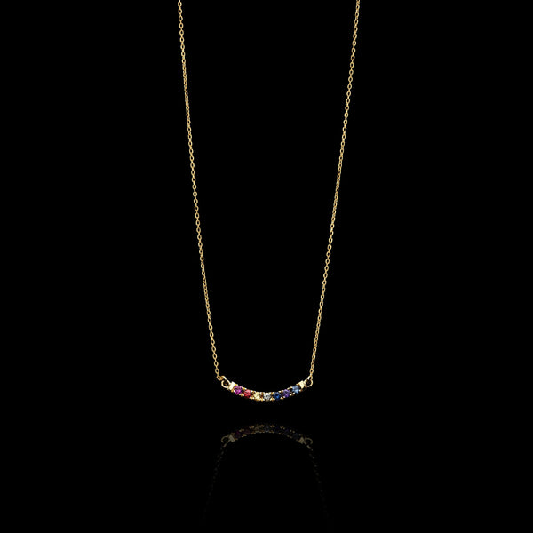 Maui Rainbow Sapphire Necklace by Catherine Zoraida