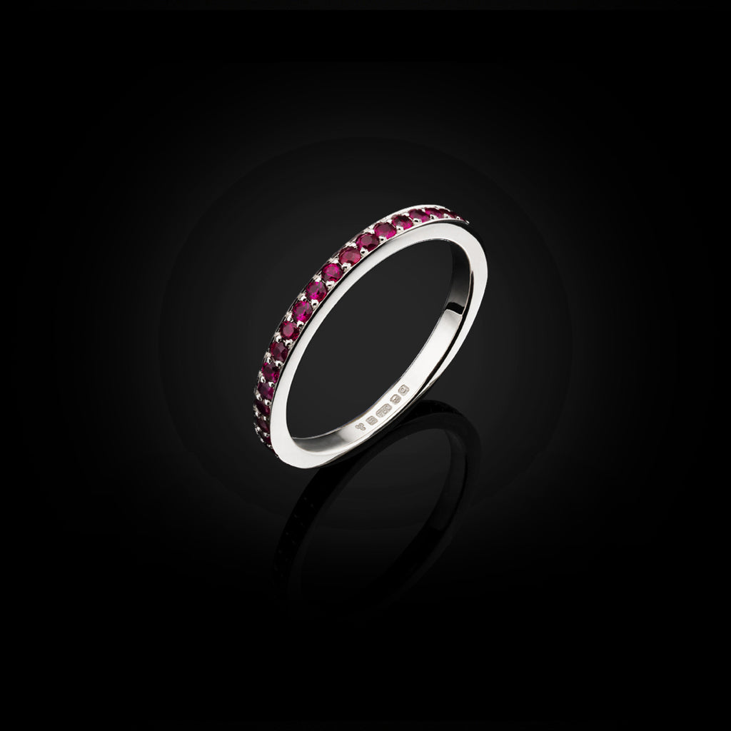 Ruby Eternity Ring by British Jewllery Designer Catherine Zoraida