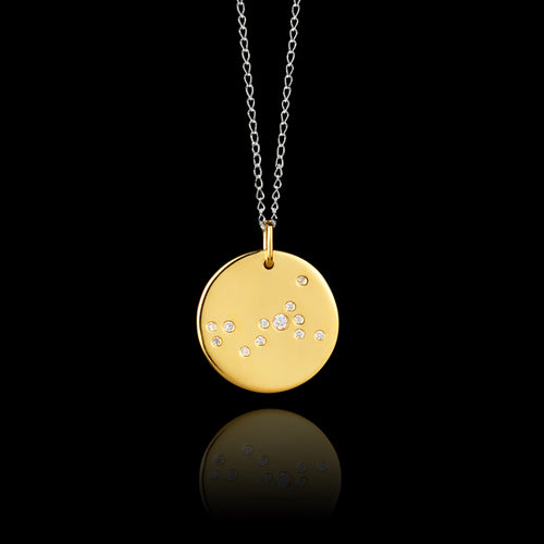 Gold Moonlight Pearl Pendant