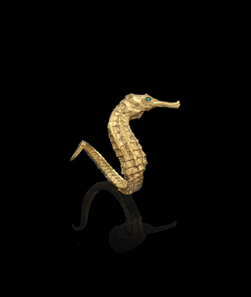 Gold Seahorse Ring by Catherine Zoraida