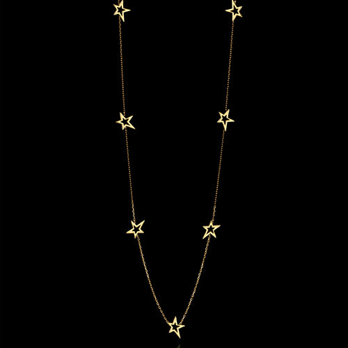 Gold Fairtrade Shooting Star Pendant