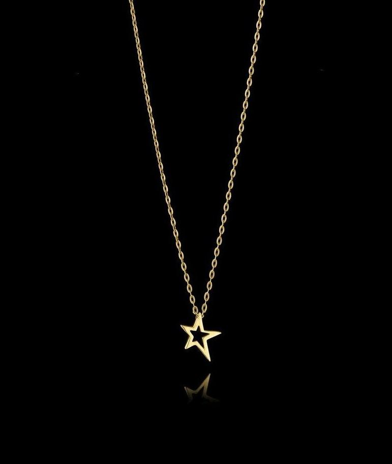 Fairtrade Gold Shooting Star Pendant Necklace by Catherine Zoraida